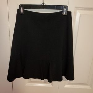 Vince Camuto Black Skirt with Ruffle on the Bottom